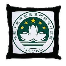 Macau Coat of Arms Throw Pillow