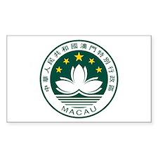 Macau Coat of Arms Rectangle Decal