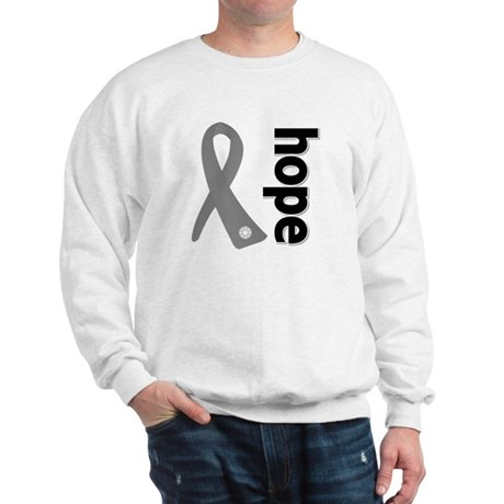 Gray Hope Ribbon Sweatshirt
