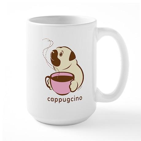 Large CapPUGcino Mug