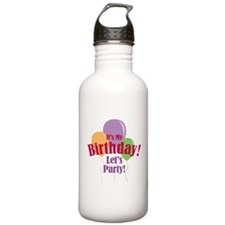 Happy Birthday Balloons Sports Water Bottle