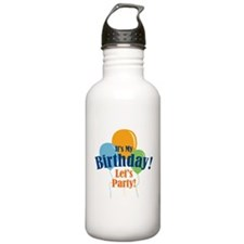 Birthday Party Balloons Sports Water Bottle