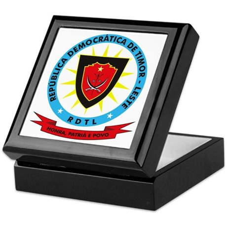 East Timor Coat of Arms Keepsake Box