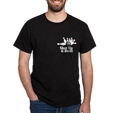 Shut Up And Bowl Logo 2 T-Shirt Design Front