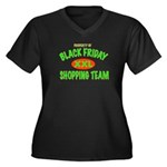 HO HO HO Women's Plus Size V-Neck Dark T-Shirt