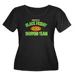 HO HO HO Women's Plus Size Scoop Neck Dark T-Shirt