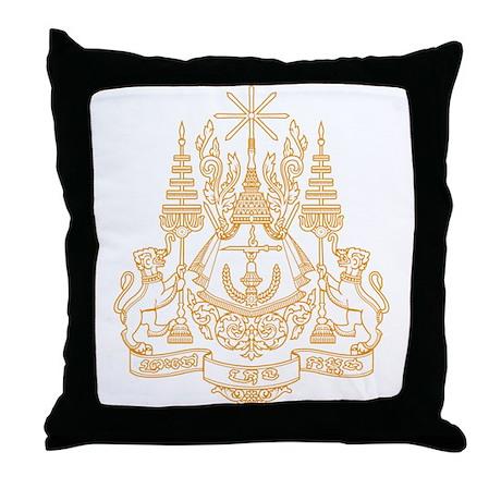 Cambodia Coat of Arms Throw Pillow