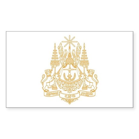 Cambodia Coat of Arms Rectangle Sticker