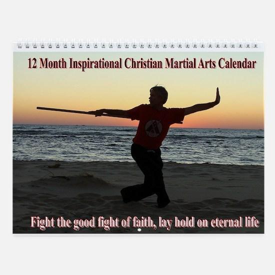 12 Month Bible & Martial Arts Wall Calendar
