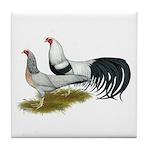 Yokohama Duckwing Chickens Tile Coaster