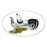 Yokohama Duckwing Chickens Sticker (Oval 10 pk)