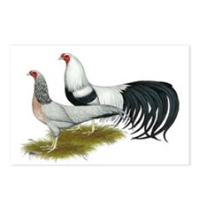 Yokohama Duckwing Chickens Postcards (Package of 8