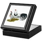 Yokohama Duckwing Chickens Keepsake Box
