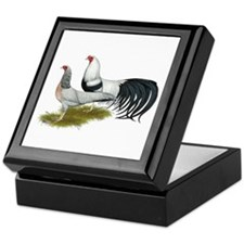 Yokohama Duckwing Chickens Keepsake Box