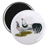 "Yokohama Duckwing Chickens 2.25"" Magnet (100"
