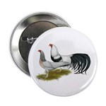 "Yokohama Duckwing Chickens 2.25"" Button (10 p"