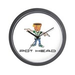Pot Head Wall Clock