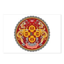 Bhutan Coat of Arms Postcards (Package of 8)