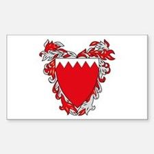 Bahrain Coat of Arms Rectangle Decal