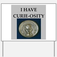 madame curie physics Yard Sign