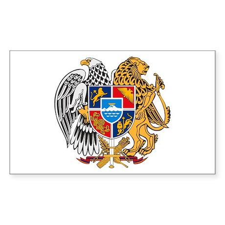 Armenian Coat of Arms Rectangle Sticker