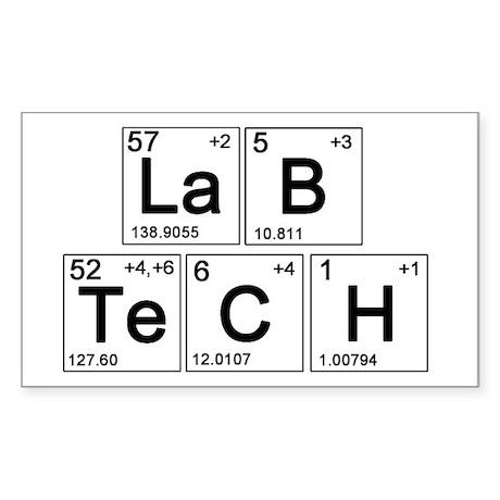 LaB TeCH Sticker (Rectangle)