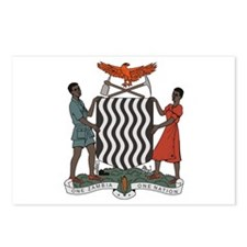 Zambia Coat of Arms Postcards (Package of 8)