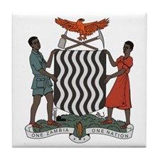 Zambia Coat of Arms Tile Coaster