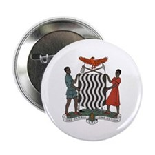 "Zambia Coat of Arms 2.25"" Button (10 pack)"