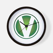 V Emblem Wall Clock