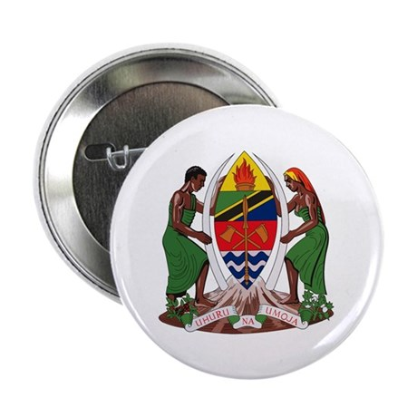 """Tanzania Coat of Arms 2.25"""" Button (10 pack)"""