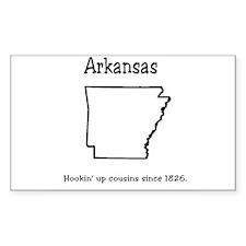 Arkansas Rectangle Decal