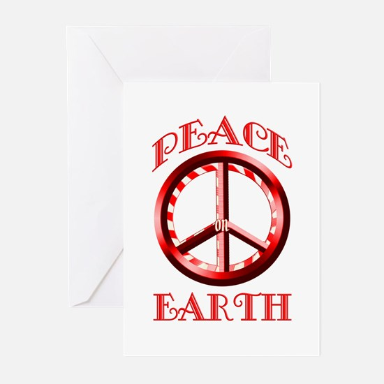 Candy Cane Peace on Earth Greeting Cards (Pk of 20