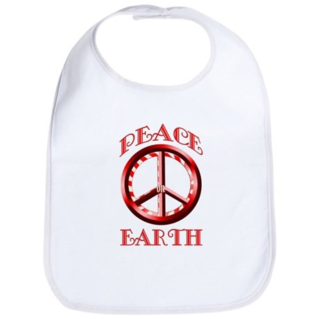 Candy Cane Peace on Earth Bib