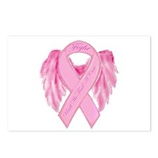 Cute Fight breast cancer research Postcards (Package of 8)