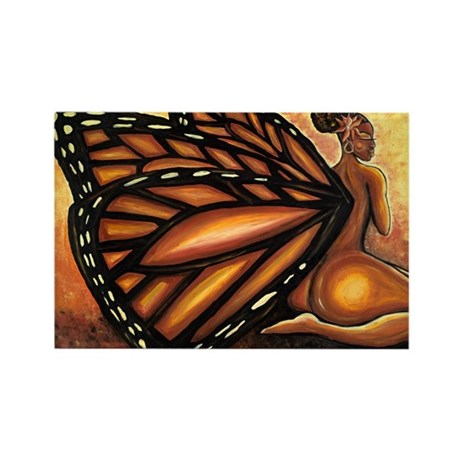 Madame Butterfly II Rectangle Magnet