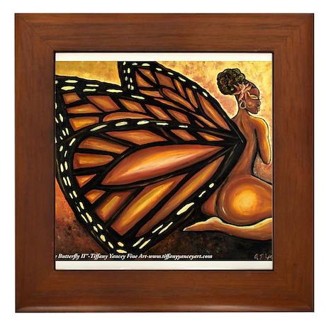 Madame Butterfly II Framed Tile