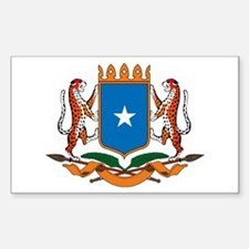 Somalia Coat of Arms Rectangle Decal