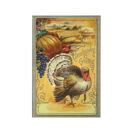 Vintage Thanksgiving Rectangle Magnet (10 pack)