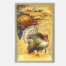 Vintage Thanksgiving design Postcards (Pkg of 8)