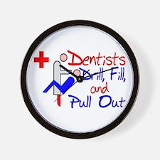 Dentists Drill Wall Clock