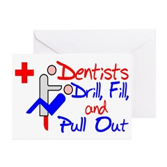 Dentists Drill Greeting Cards (Pk of 20)