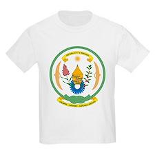 Rwanda Coat of Arms Kids T-Shirt