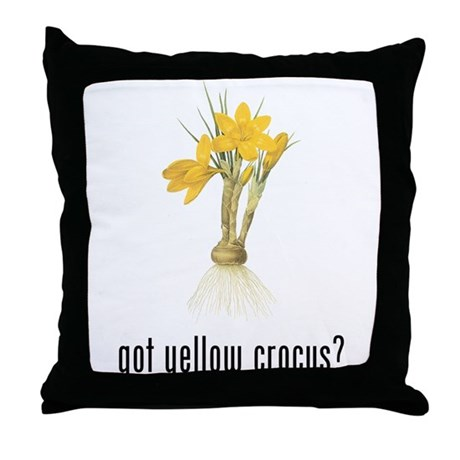 Yellow Crocus Throw Pillow