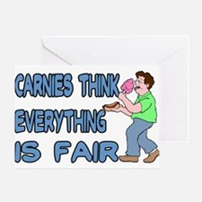 Carnies Think Greeting Card