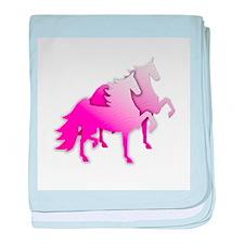 Pink Silo Saddlebreds Infant Blanket