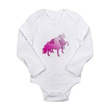 Pink Silo Saddlebreds Long Sleeve Infant Bodysuit