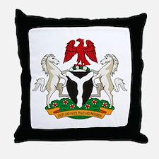 Nigerian Coat of Arms Throw Pillow