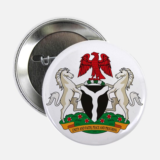 """Nigerian Coat of Arms 2.25"""" Button (10 pack)"""