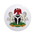 Nigerian Coat of Arms Ornament (Round)